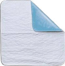 """Quik-Sorb™ Birdseye Cotton Reusable  Incontinence Bed Underpad, Twin, with Straps, 36"""" x 72"""""""
