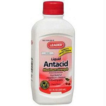 Leader Antacid Liquid Suspension, 12 Oz., Cherry
