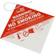 No Smoking Warning Sign (caution Oxygen) 100/pk - Diabetic Supply Store