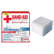 "J & J Band-aid First Aid Gauze Pads 4"" X 4"" 10 Ct"