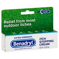 Benadryl Itch Stopping Cream, Extra Strength, 1 Oz