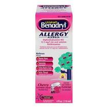 Children's Benadryl Allergy Liquid 4 Fl Oz, Cherry Flavored