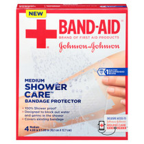 J & J Band-aid First Aid Shower Care Bandage Protector, Medium, 4 Ct. - Diabetic Supply Store
