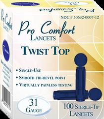 ProComfort Twist 31G Lancet