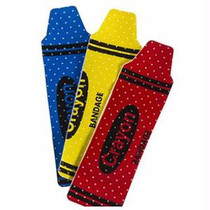 "Cardinal Health Sterile Adhesive Plastic Bandage, Crayon Design, 3/4"" X 3"""
