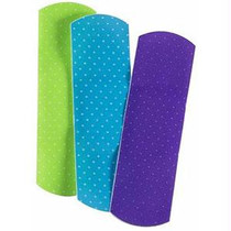 "Cardinal Health Sterile Adhesive Plastic Bandage, Neon Design, 3/4"" X 3"""