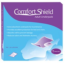 Home Aide Comfort Shield Adult Underpads Size: 30in x 36in