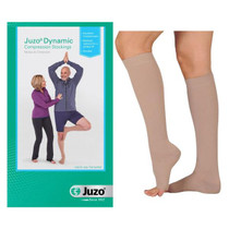 Juzo Dynamic Knee-high With Silicone Border, 20-30, Short, Open, Beige, Size 5