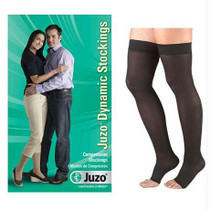 Dynamic Thigh-high With Silicone Border, 20-30, Open, Black, Size 2