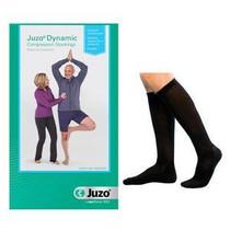 Juzo Dynamic Knee-high, 30-40, Full Foot, Black, Size 5
