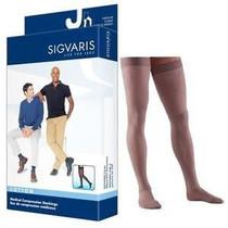 232n Essential Cotton Thigh, 20-30mmhg, Men's, Large, Short, Crispa