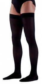233n Essential Cotton Thigh, 30-40mmhg, Men's, Large, Long, Black