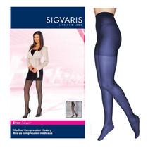 781p Style Sheer Pantyhose, 15-20mmhg, Women's, Large, Long, Dark Navy