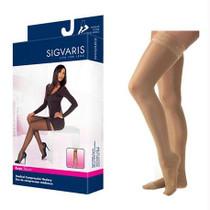782n Style Sheer Thigh, 20-30mmhg, Women's, Small, Long, Suntan