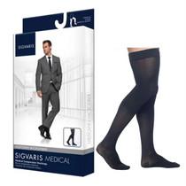 822n Style Microfiber Thigh, 20-30mmhg, Men's, Medium, Short, Black