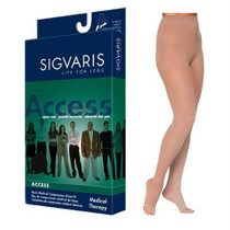 972p Dynaven Pantyhose, 20-30mmhg, Open Toe, Large, Long, Crispa