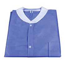 Lab Jackets w/ Pockets Pack of 10 SMALL Blue