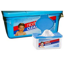 """Nice Pak Products Nice and Clean Baby Wipes Scented 7"""" x 8"""", Sterile, Latex-free"""