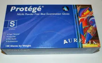 Protege Blue Stretch Nitrile Small Gloves