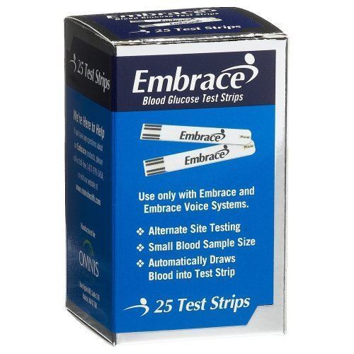 Embrace Glucose Test Strips - Pack of 50