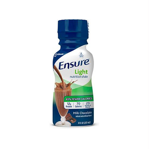 Ensure Light Nutrition Shake 8oz. Bottle, Chocolate