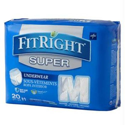 "Fitright Super Protective Underwear, Medium  28"" - 40"""