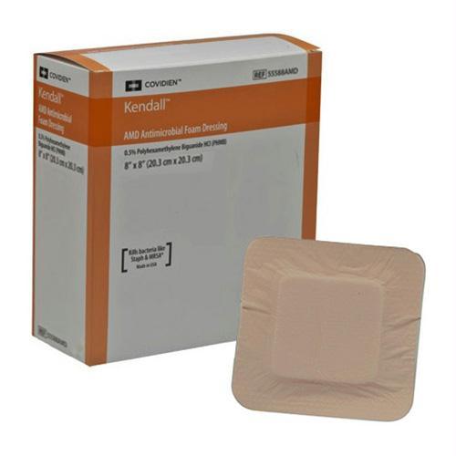 """Amd Antimicrobial Foam Dressing, 8"""" X 8"""""""