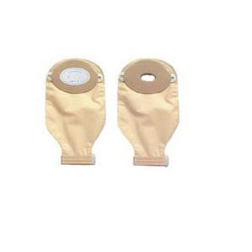 """Nu-Hope One-Piece Post-Op Trim-to-Fit Convex Adult Drainable Pouch with Closure Clamp 1-3/4"""" x 3-1/4"""" Inside Cutting Area Oval, 3-1/4"""" x 4-5/8"""" OD, 11"""" L x 5-3/4"""" W, Clear, 1/2"""" Starter Hole, 24 oz, Adhesive Foam Pad"""