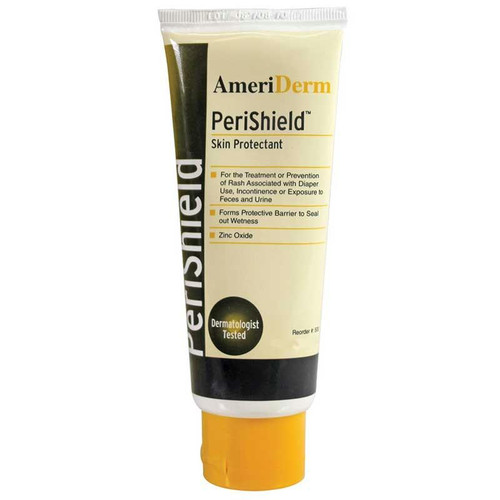 Ameriderm PeriShield™ Barrier Ointment and Protectant Cream, Vitamins A, D and E and Aloe Enriched, 3.5 oz Tube