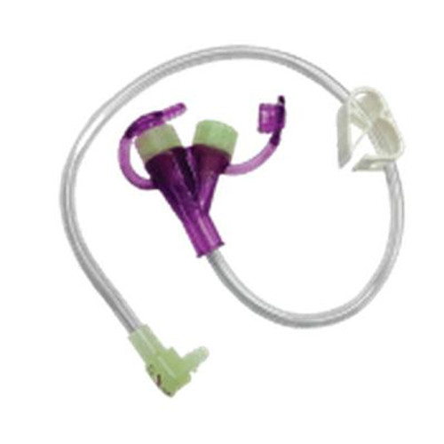 """Mini One Continuous Feeding Set 24"""" Purple Enfit Adapter Both Ports"""