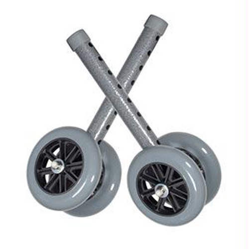 "5"" Bariatric Walker Wheels With Rear Glides"