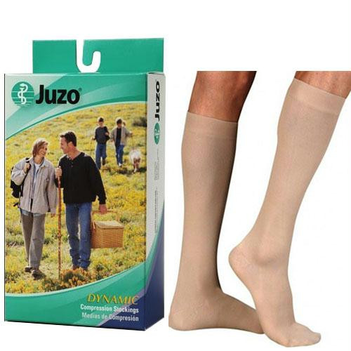 Juzo Soft Knee-high With Silicone Border, 30-40, Full Foot, Beige, Size 3