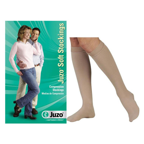 Juzo Soft Knee-high, 30-40, Regular, Full Foot, Beige, Size 1