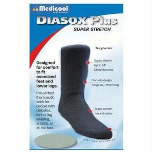Medicool DiaSox® Plus Oversize Diabetes Socks, XL, Black