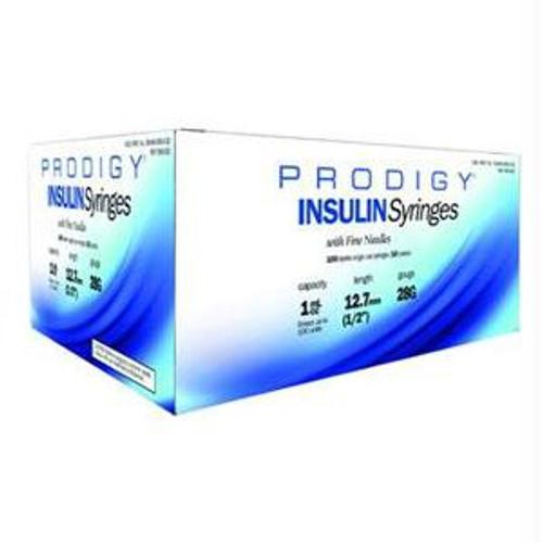 "Prodigy Insulin Syringe 28g X 1/2"", 1 Ml (100 Count)"