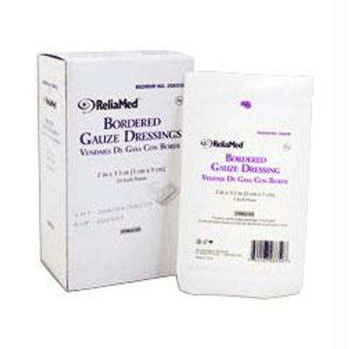 """Reliamed Sterile Bordered Gauze Dressing 2"""" X 3-1/2"""""""