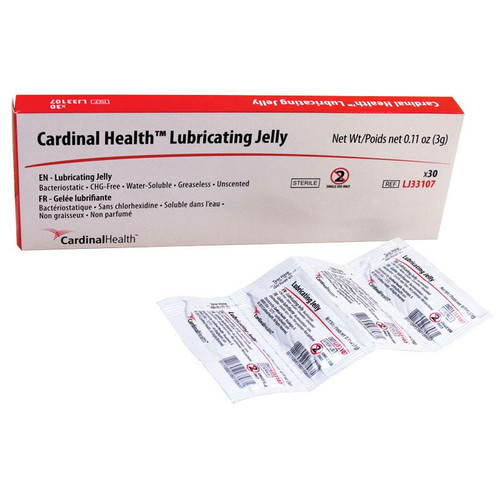Cardinal Health Lubricating Jelly 3 G Foil Packet