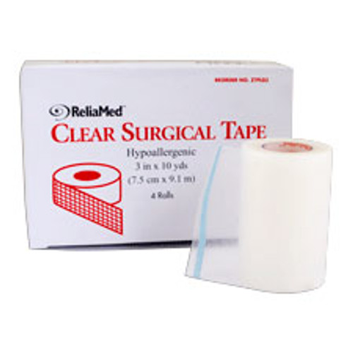 """Reliamed Clear Surgical Tape 1"""" X 10 Yds."""
