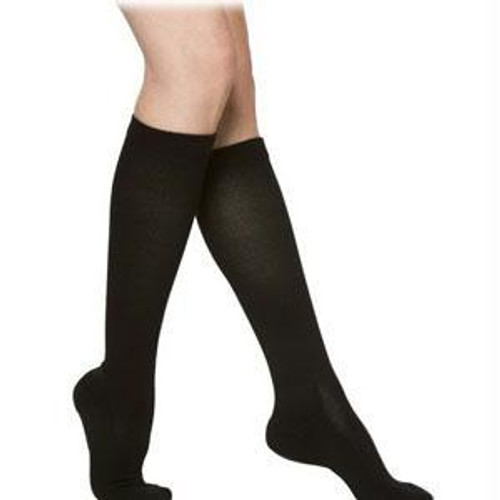 Cushioned Cotton Calf, 20-30, X-large, Long, Closed, Black
