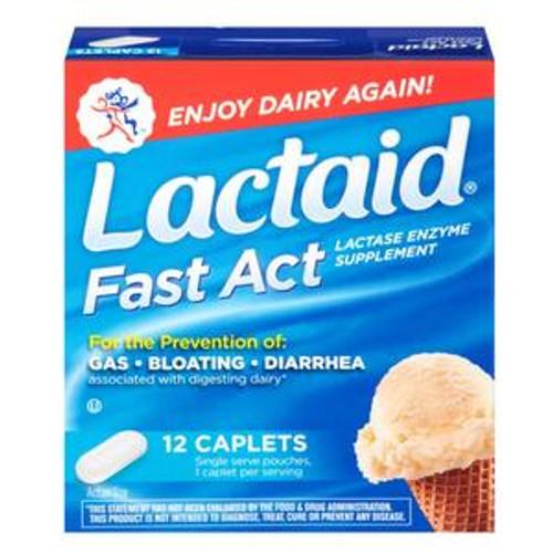 Lactaid® Fast Act Lactase Enzyme Supplement, Caplets