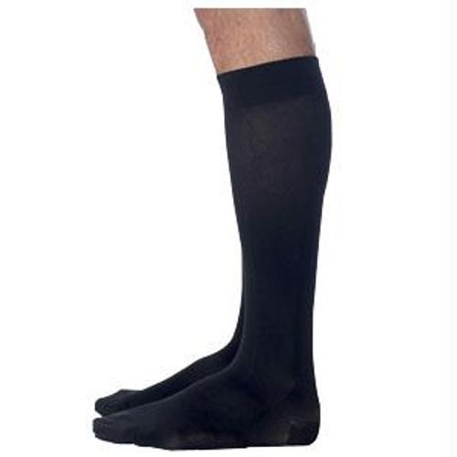 823c Style Microfiber Calf, 30-40mmhg, Men's, Large, Long, Black