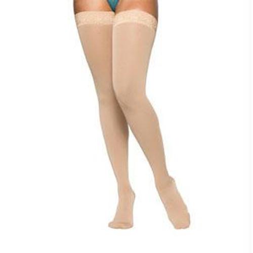 862waist Att Left, Essential Opaque Thigh, 20-30mmhg, Open Toe, Medium, Long, Crispa