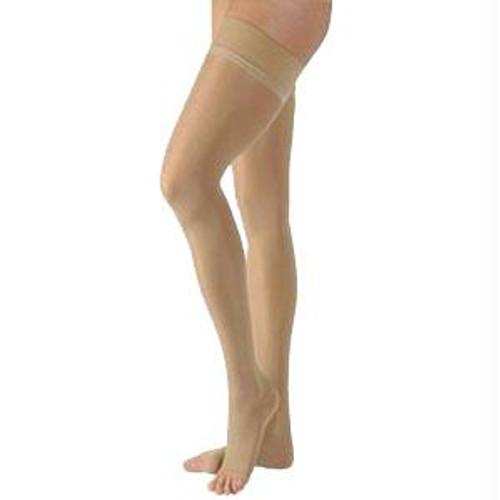862waist Att Left, Essential Opaque Thigh, 20-30mmhg, Open Toe, Small, Short, Crispa