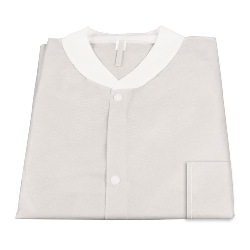 Lab Jackets w/ Pockets Pack of 10 Large WHITE