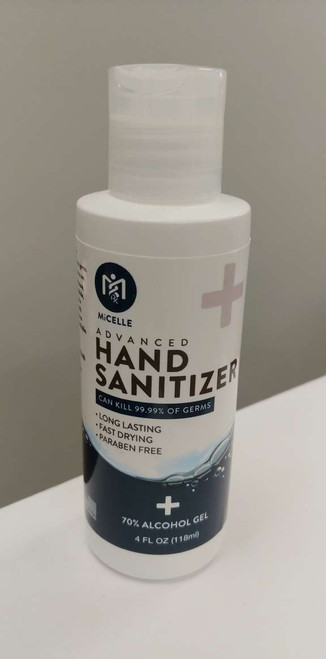 Micelle Hand Sanitizer 4oz 70% Alcohol