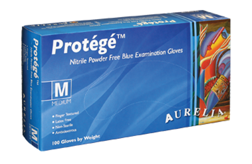 Protege Blue Nitrile Gloves M