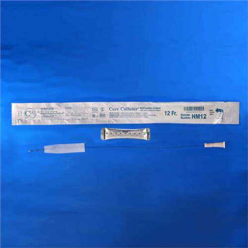 """Cure Male Hydrophilic Coated Sterile Intermittent Urinary Catheter 12Fr 16"""""""