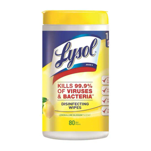 Lysol Disinfecting Wipes 80ct Lemon & Lime Scent