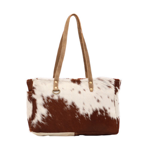 Fawn and White Hairon Small Bag
