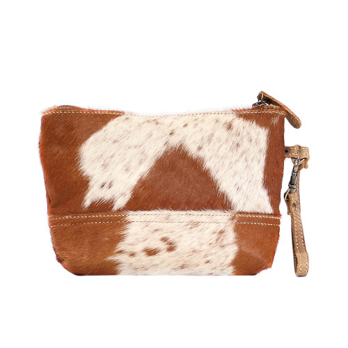 Snowy and Cocoa Hairon Pouch